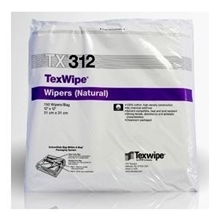 TexWipe® TX312 Dry Cotton Cleanroom Wipers, Non-Sterile