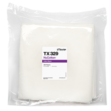 NuCotton® TX329 Dry Cotton Cleanroom Wipers, Non-Sterile