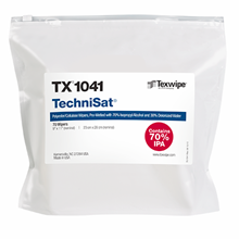 TechniSat® TX1041 Pre-Wetted Nonwoven Cleanroom Wipers, Non-Sterile