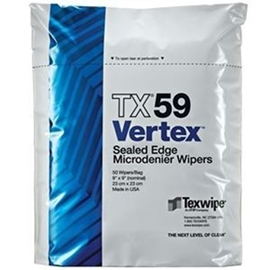Vertex® Microdenier Dry Cleanroom Wipers, Non-Sterile