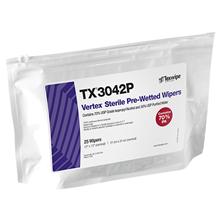 Sterile Vertex® TX3042P Pre-Wetted Cleanroom Wipers