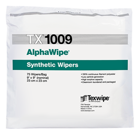 AlphaWipe® TX1009 Dry Cleanroom Wipers, Non-Sterile