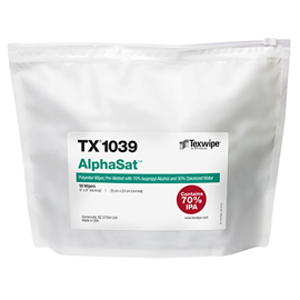 Picture of AlphaSat® TX1039 Pre-Wetted Cleanroom Wipers, Non-Sterile