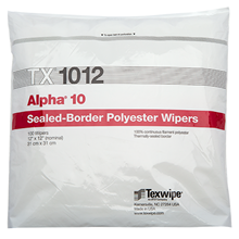 Alpha® 10 TX1012 Dry Cleanroom Wipers, Non-Sterile