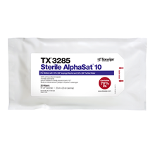 Sterile AlphaSat® with Vectra® Alpha® 10 TX3285 Pre-Wetted Cleanroom Wipers, Sterile