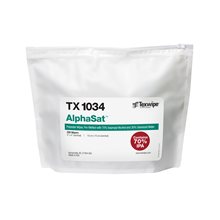 AlphaSat® TX1034 Pre-Wetted Cleanroom Wipers, Non-Sterile