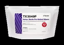 Sterile Vertex® TX3049P Pre-Wetted Cleanroom Wipers
