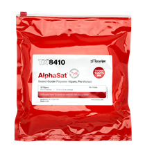 AlphaSat® with Vectra® Alpha® 10 TX8410 Pre-Wetted Cleanroom Wipers, Non-Sterile