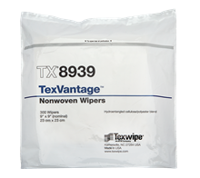 TexVantage™ TX8939 Dry Nonwoven Cleanroom Wipers, Non-Sterile