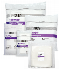 - TexWipe®/NuCotton® Dry Cotton Cleanroom Wipers, Non-Sterile